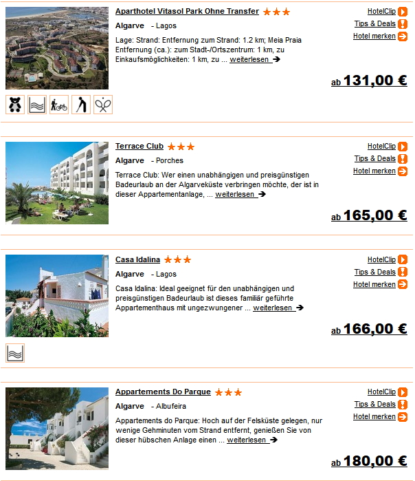 1 Woche Portugal Flug Hotel-Pauschalurlaub ab 131 Euro