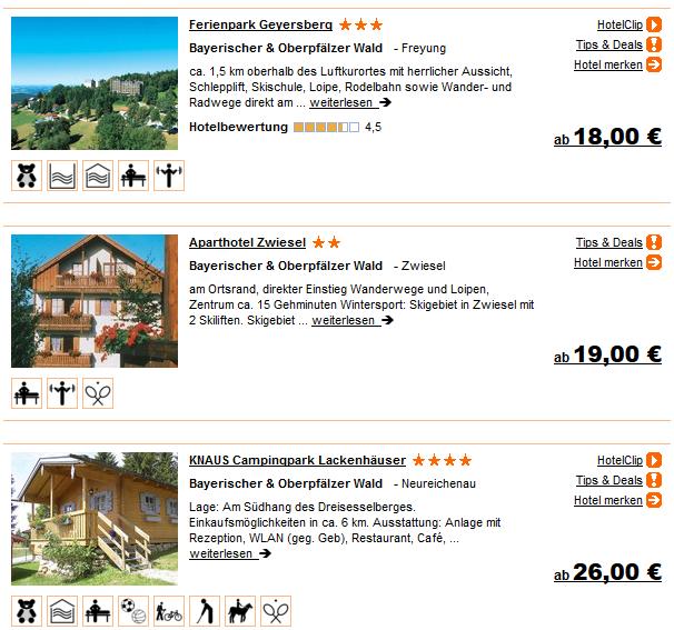 Bayerischer Wald Unterkunft ab 18 Euro